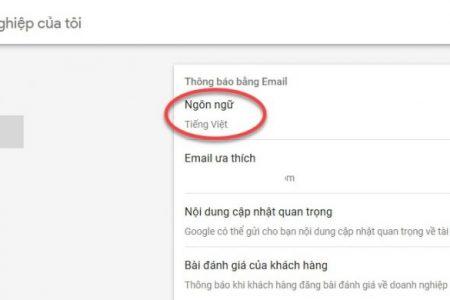 Thay đổi ngôn ngữ sang tiếng Việt